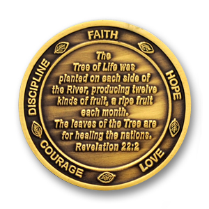 Choose Life Commemorative Coin - 1.56 inch, Antique Bronze